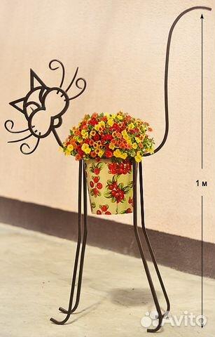 Кот подставка для цветов
