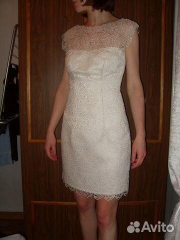 Кружевное платье с накладной юбкой из мягкой сетки купить 1