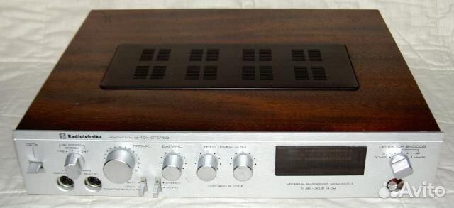 Усилитель radiotehnika у-101 hi-fi.