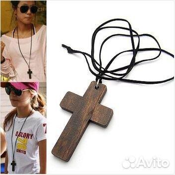 Крестик деревянный нательный из