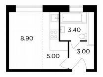 Квартира-студия, 20,3 м², 15/25 эт.