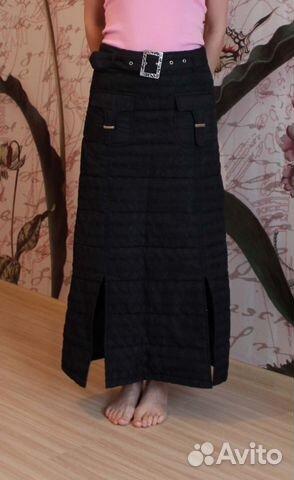 Болоньевая зимняя юбка
