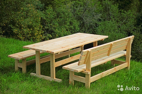 Самодельные столы и стулья, стол своими