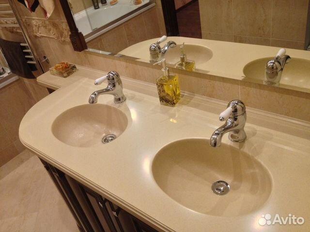 Мраморная столешница для ванной м.выхино Душевой поддон из искусственного камня Hi-Macs Тульская