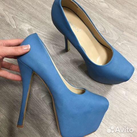 8797eb20e Туфли на шпильке 15 см цвет синий купить в Москве на Avito ...