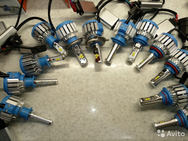 светодиодные лампы H1 H3 H4 H7 Hb4 H11 гарантия купить в