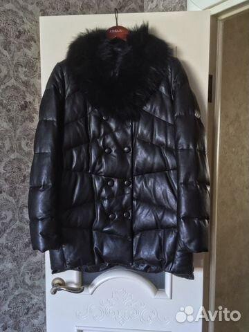 8aade204fa0 Зимняя кожаная куртка La Reine Blanche
