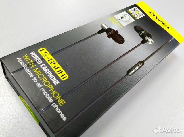 Наушники awei (ES-850HI) вакуумные с микрофоном - Бытовая электроника 52da11c95d059