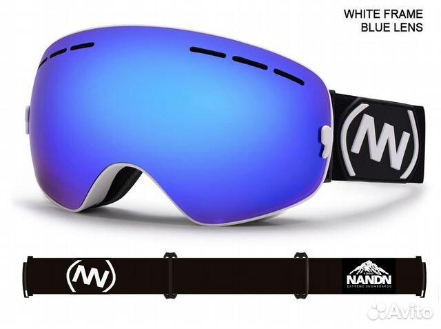 944d503aa6c0 Горнолыжные очки  маска для сноуборда Nandn Blue 2   Festima.Ru ...