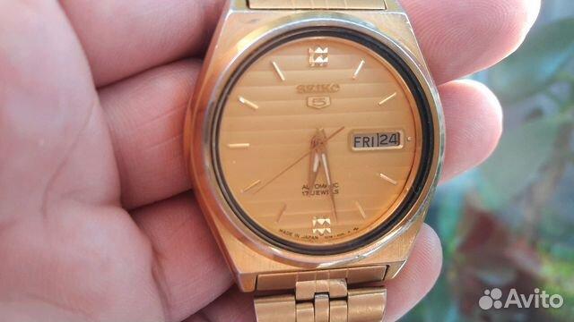 Мужские позолоченные наручные часы Seiko 5 89283211593 купить 6