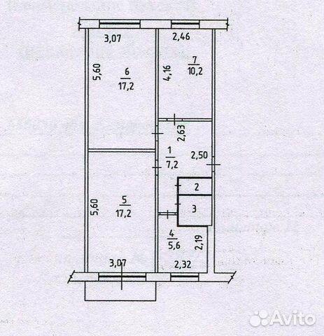 Продается трехкомнатная квартира за 2 290 000 рублей. г Кемерово, Октябрьский пр-кт, д 67А.