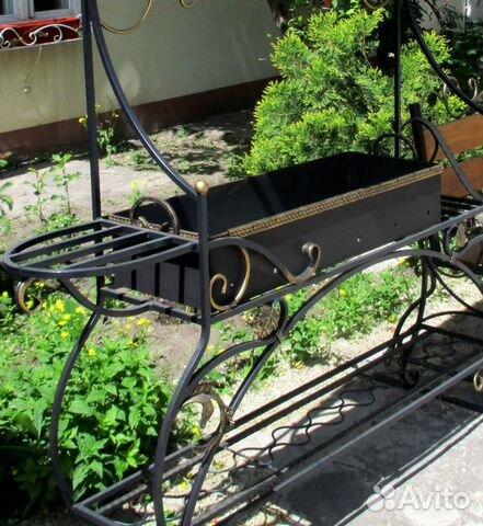 Мангал кованый с крышей 89020404437 купить 2