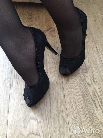 Туфли гипюр/открытый нос, каблук 6см