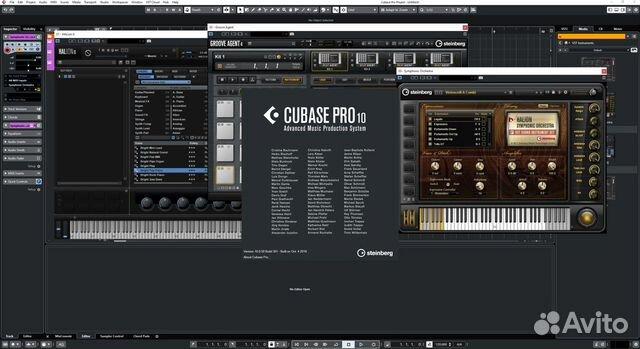 Cubase 10 Pro + HALion 6 + Groove Agent 4  89539292414 купить 2