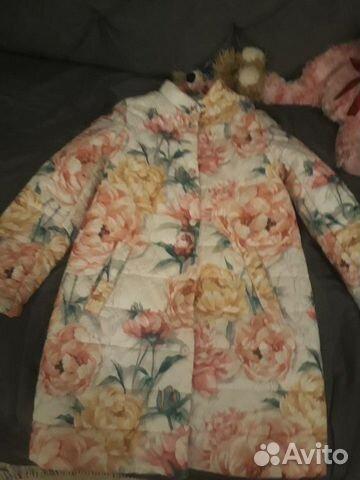 Пальто пуховик на девочку 89059936959 купить 1
