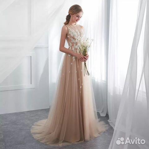 Платье свадебное вечернее 40-42-44  89086628077 купить 1