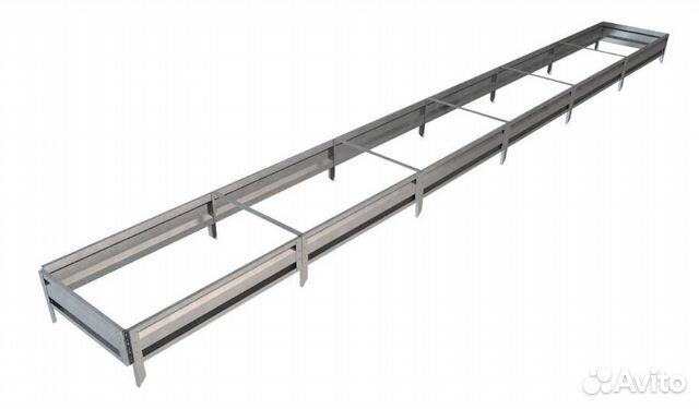 Грядка GL 0,7x6 метров, высота 19 см,серебристая  89119512319 купить 1