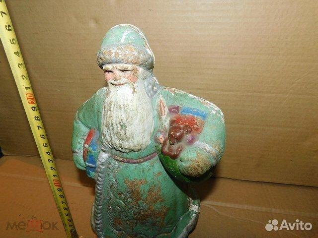 Старинная новогодняя игрушка дед Мороз пресс-опилк  89065103360 купить 1