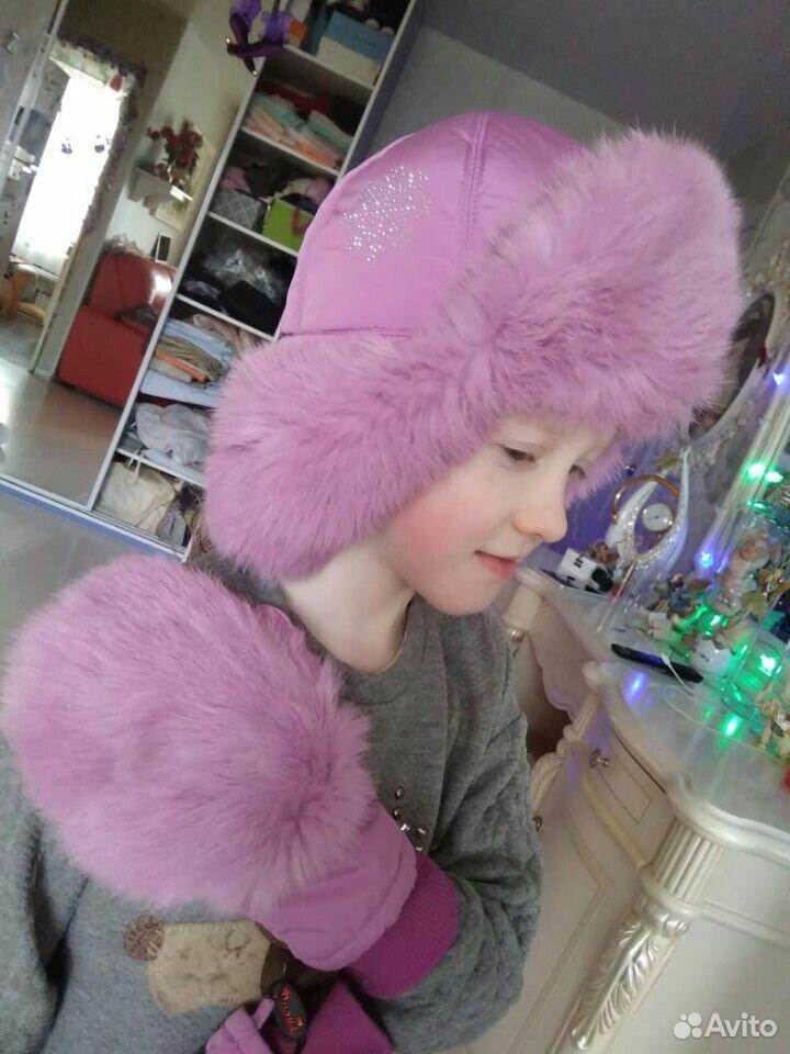 Зимняя шапка и варежки Фиона  89506331070 купить 1