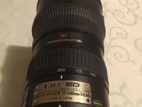Nikon AF-S VR-nikkor 70-200mm 1:2.8G б/у — Фототехника в Москве