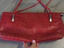 Кожаная красная сумка — Одежда, обувь, аксессуары в Омске