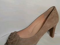 Туфли замшевые бежевые