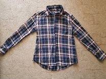 Утепленная клетчатая рубашка, размер S