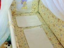 Кроватка маятник, белого цвета