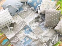 Бортики с одеялком в кроватку