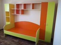 Шкаф в детскую, кровать, стол