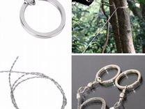 Тросовая пила с металлическими кольцами