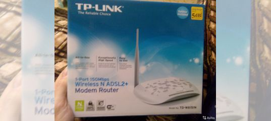 Wi Fi Tp Link Td W8151n Avito 150mbps Wireless N Adsl2 Modem Router