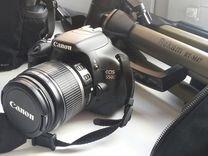 Фотокамера canon 550D + объектив + штатив