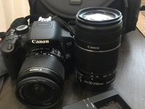 Фотоаппарат canon 650d + 2 объектива