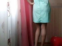 Берюзовое платье
