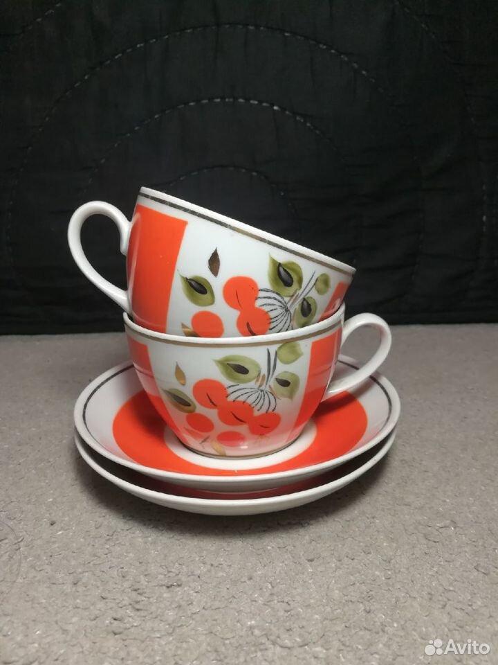 Чайные пары Рябина СССР завод Полонне, 80-е 89003463073 купить 1