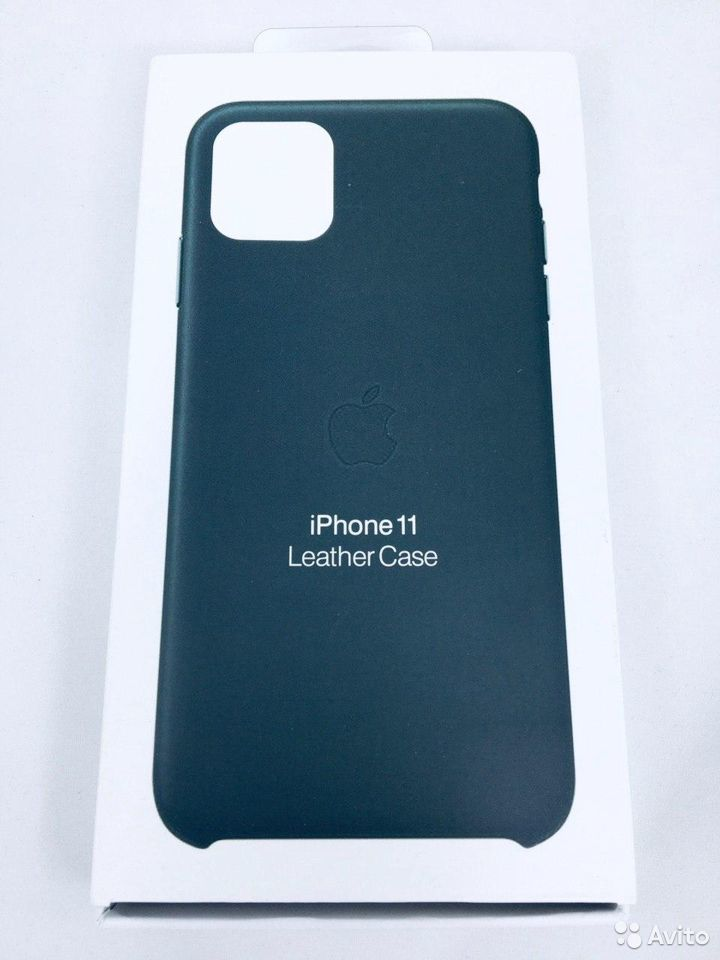 Кожаный чехол Leather Case Apple iPhone 11 Green  89112002770 купить 1