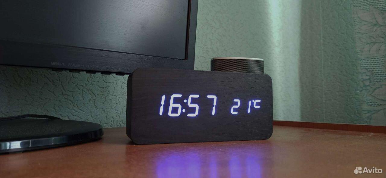 Светодиодные часы, с датчиком температуры