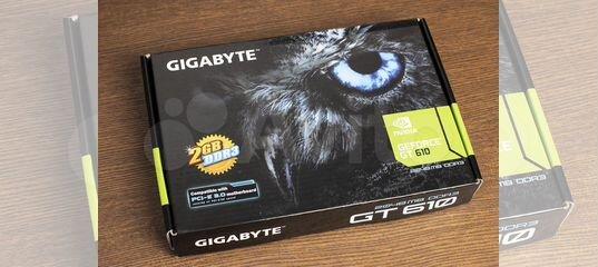 Видеокарта gigabyte GeForce GT 610 2Gb купить в Москве   Бытовая электроника   Авито